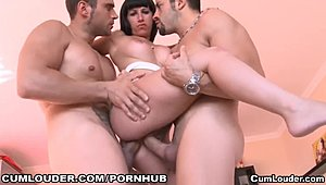 Weird Spanish adolescent relishs her 1st double penetration